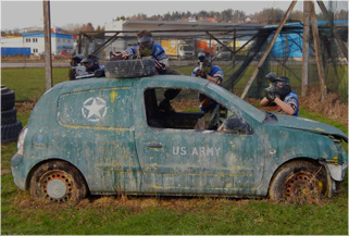 Concept Field - Paintball Action in Car City